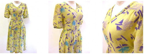 Vintage Dress Lime & Specks