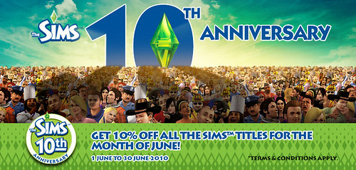 EA Singapore - 10% off all Sims titles for the month of June