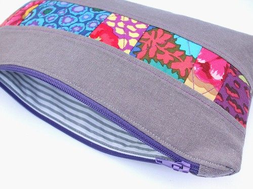 Mostly recycled zippered pouch