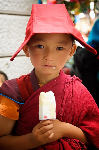 Ice Cream Eating Tibetan Buddhist Monk