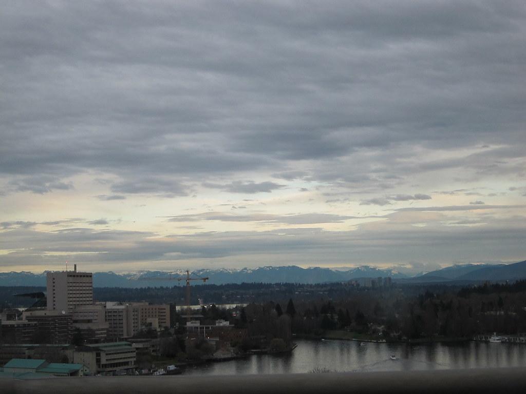 Cascade Mountains Over Portage Bay, Seattle