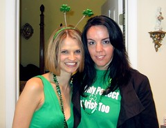 All decked out in our kelly green. (PS, she really *is* Irish!)