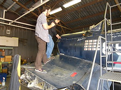 Chris & Dennis Soltis Working on the Corsair