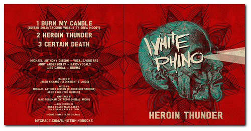 Final Album Artwork for White Rhino's 'Heroin Thunder' Album