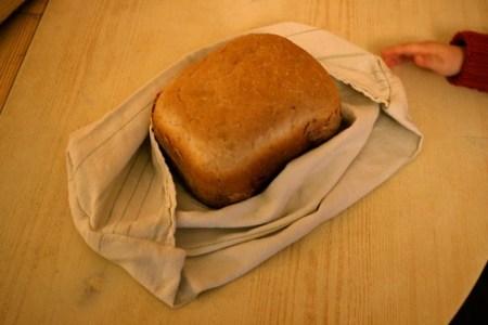 Le pain maison dans son sac