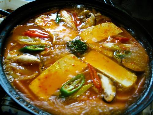 kimchi stew with spam