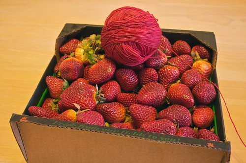 Stawberries and sock yarn