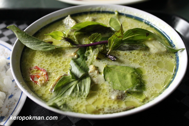 Green Curry at Tasty Thai Hut