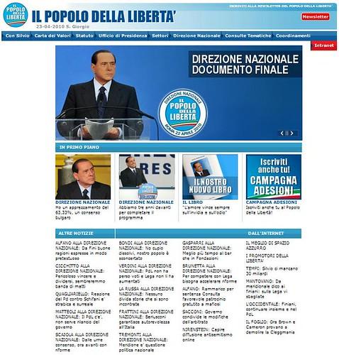 Il sito del PdL