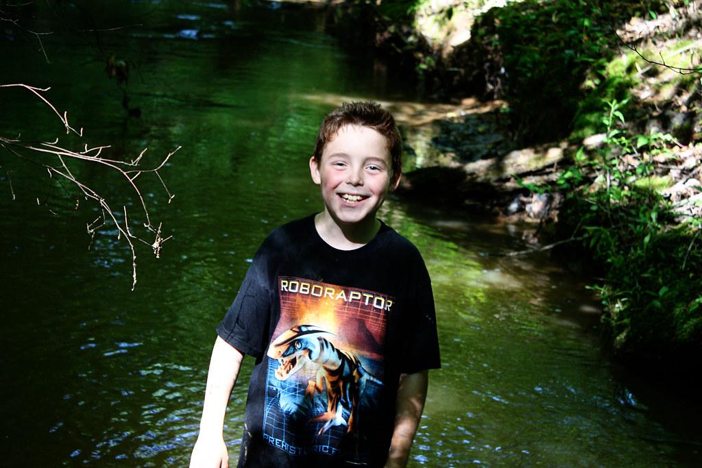 adam at the creek