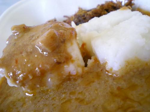 Satay sauce & nasi empit