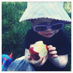 Apple at the park