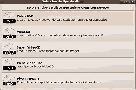 DeVeDe. Crea tus DVD compatibles
