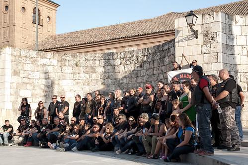 Concentración motera en la plaza de Cervantes