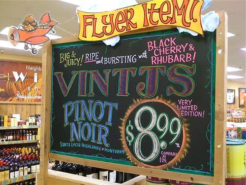 "VINTJS (""Vintages"") Wine"