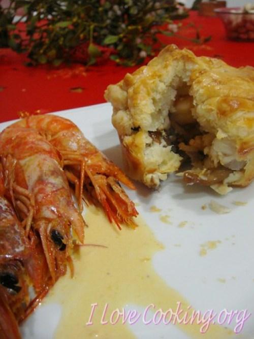 Fagottini di pesce e funghi porcini