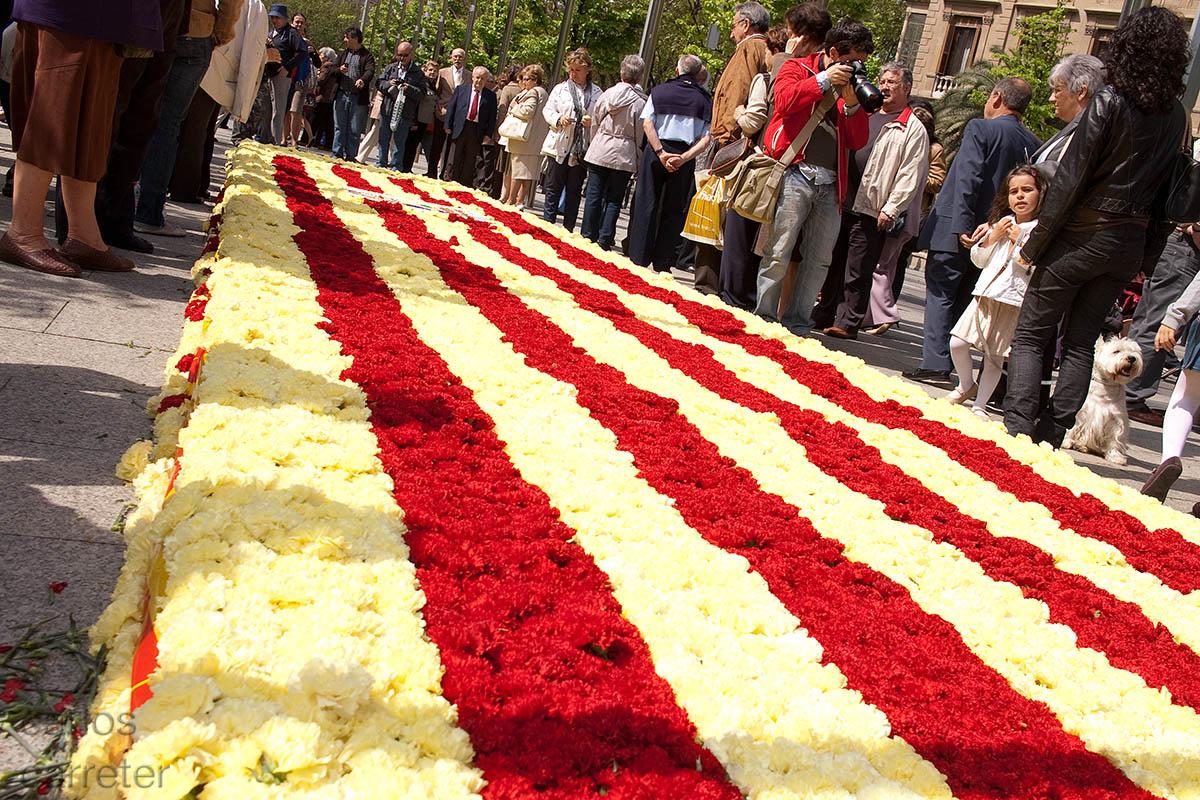Bandera de flores