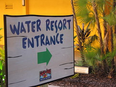Coco Key Water park entrance sign