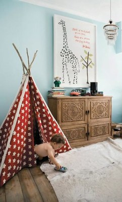 kids room tee pee
