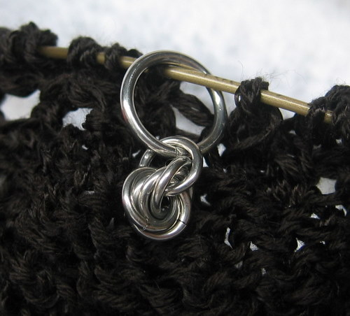 Chainmaille stitch markers! (silver)