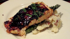 Wild Maine Blueberry Barbeque Salmon - Azure Cafe
