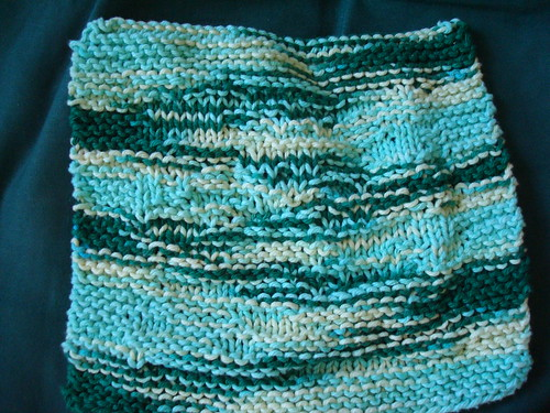 Green hockey dishcloth