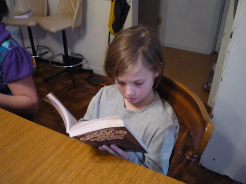 Esther reading