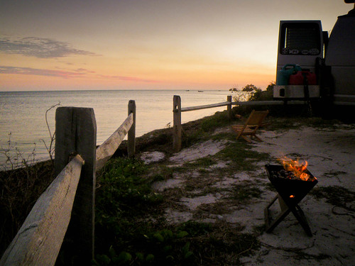 Perfect Campsite and Florida Keys Sunset