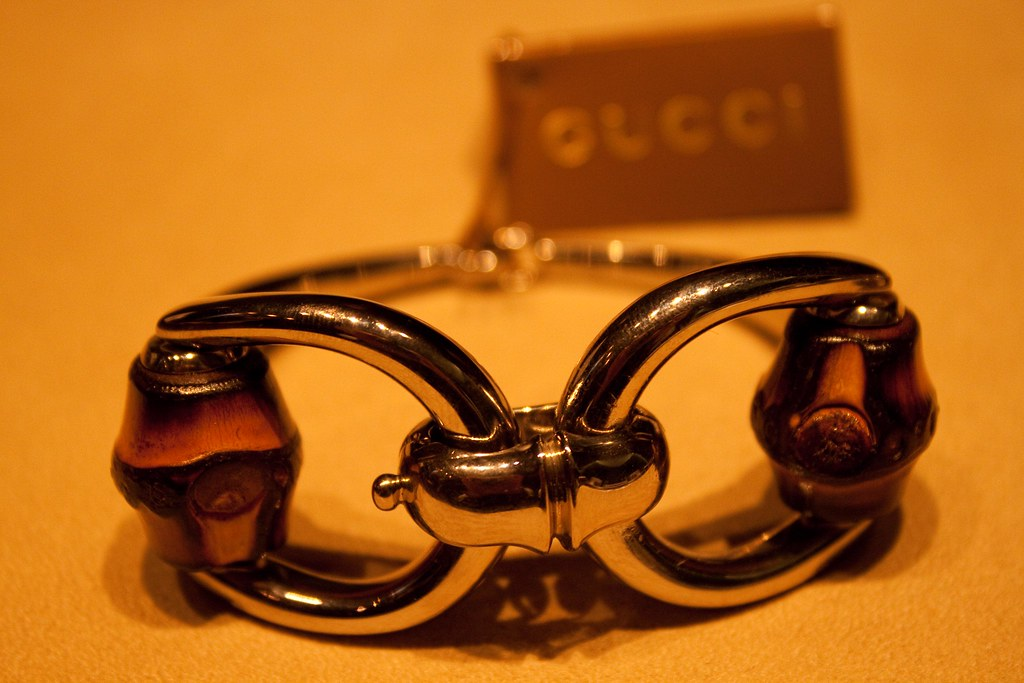 Gucci Bracelet in silver and bamboo