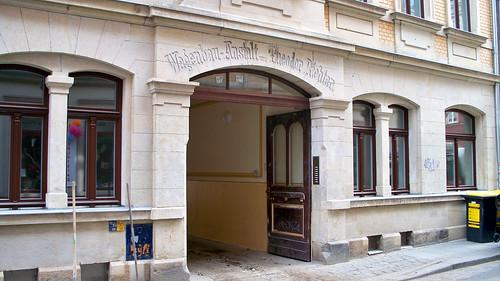 Einfahrt zur Wagenbau-Anstalt in der Böhmischen Straße