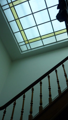 Ceiling in the staircase