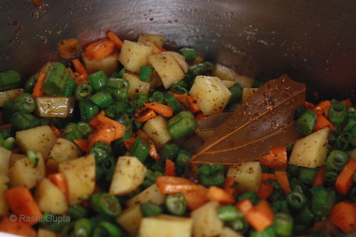 sauteed vegetables for Pulao