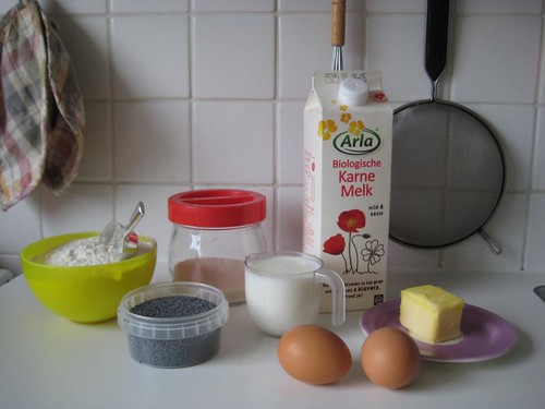 Ingredients for Poppy Seed Scones