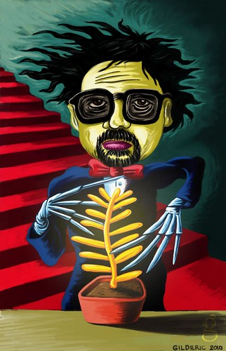 Tim Burton & the Palme d'or - illustration par Gilderic