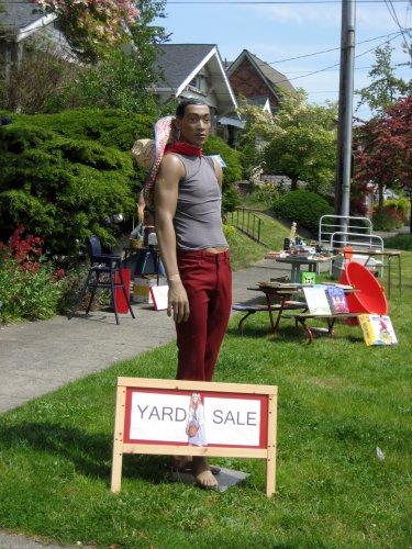 Suave yard sale mannequin