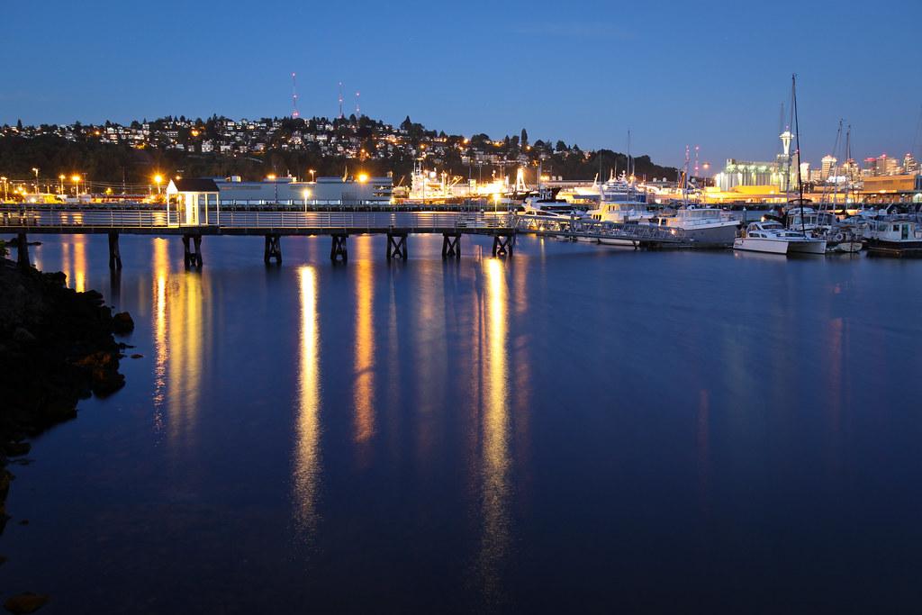 Elliott Bay Marina reflections