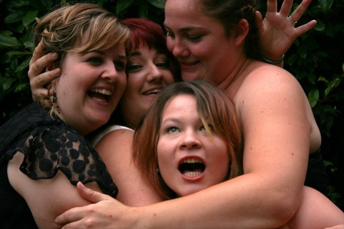 Amie and her bridesmaids