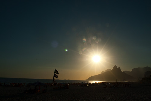 Por do Sol na Praia de Ipanema