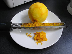 Orange zest with Microplane