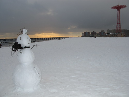Snow Mermaid on Coney Island Beach. Photo © Bruce Handy/Pablo 57 via flickr