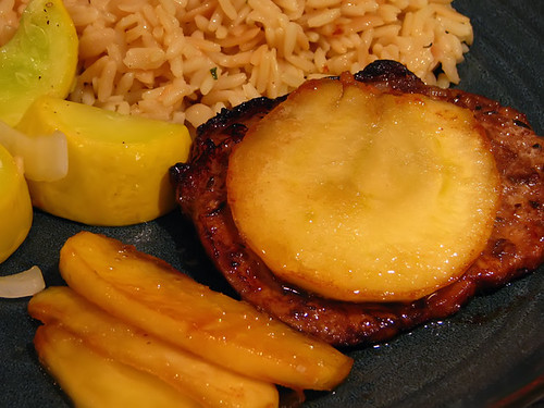 Grilled Pork Loin with Caramelized Apples
