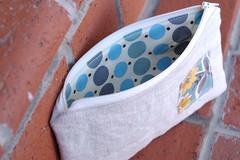 Linen-Blue Pouch inside