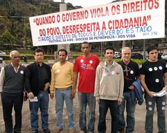 Manifestação em favor da Saúde Pública em Petrópolis