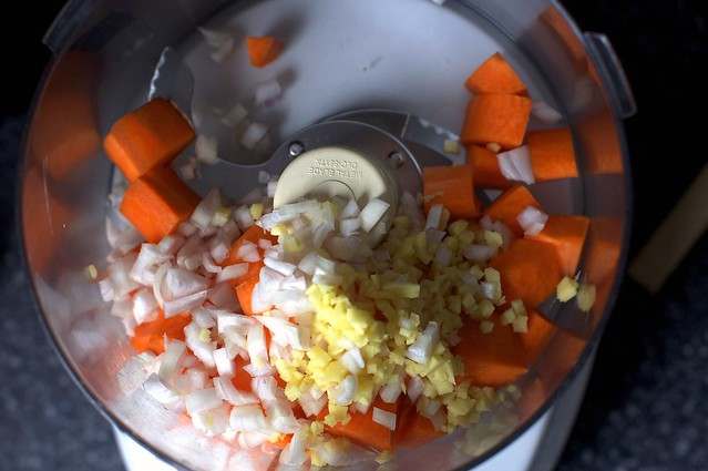 into the food processor