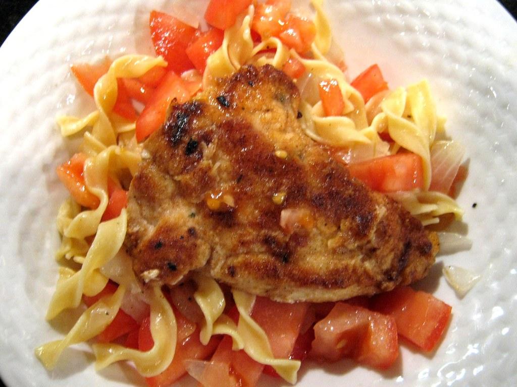 lemon and white wine chicken pasta2