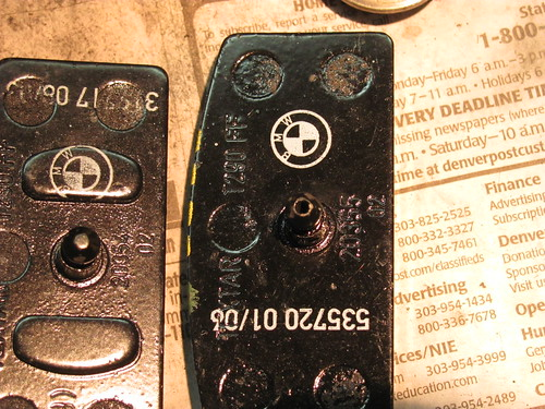 Disk Brake Pads, Right w/ Pin Hole, Left w/ Raised Pad