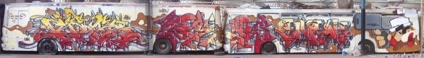 graffiti sur bus