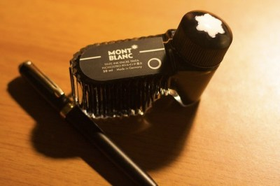 Pen with Mont Blanc Ink Bottle