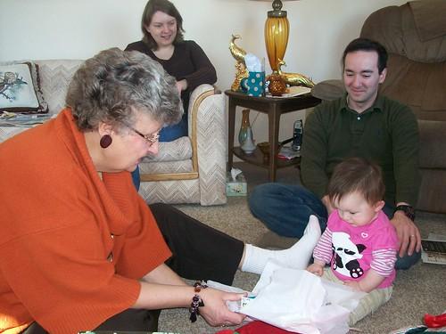 Grandma D with Hannie