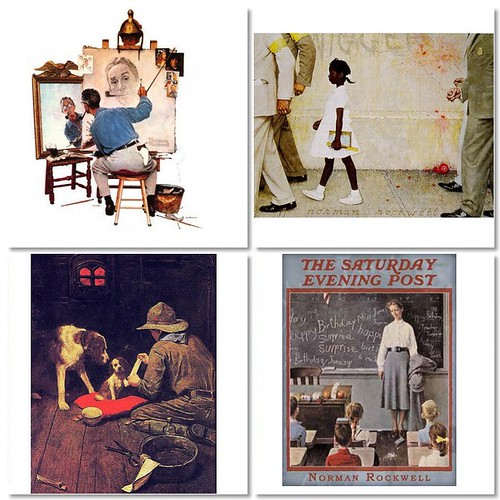 Norman Rockwell collage